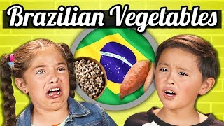 KIDS EAT BRAZILIAN VEGETABLES! | Kids Vs. Food
