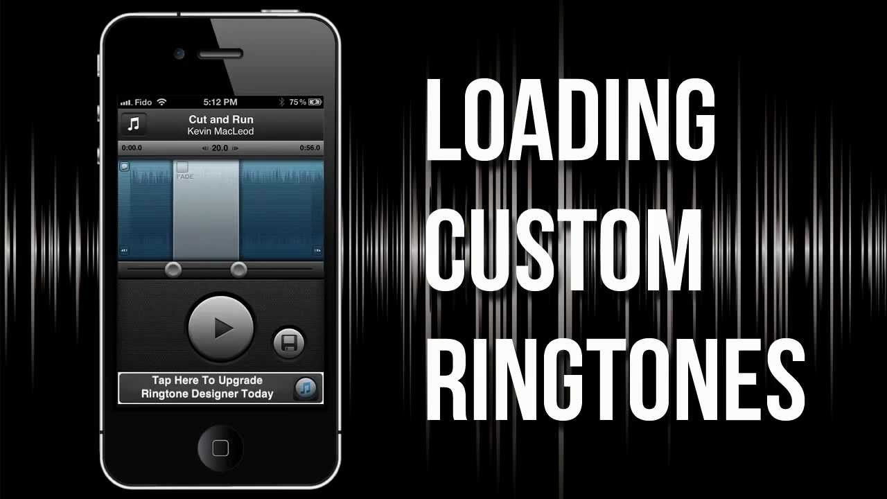 custom ringtone iphone how to load custom ringtones into iphone 5 4s 4 using 10470