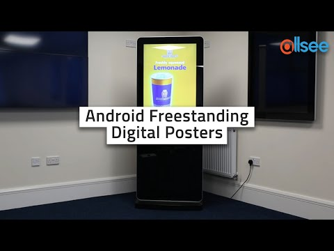 Allsee Android Freestanding Digital Posters with 50 Inch