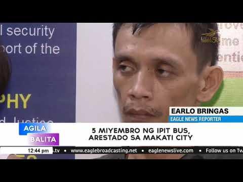 5 miyembro ng ipit bus, arestado sa Makati City