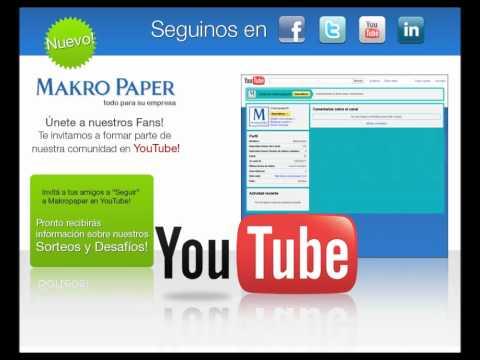 MakroPaper | Síguenos en Facebook, Twitter, YouTube & Linkedin