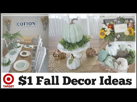 Fall Decor Ideas | DIY Fall Dollar Spot & Dollar Tree Centerpiece Ideas | Momma From Scratch