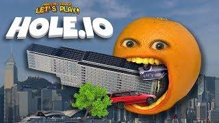 HOLE.IO - EATING SKYSCRAPERS!!! [Annoying Orange Plays]