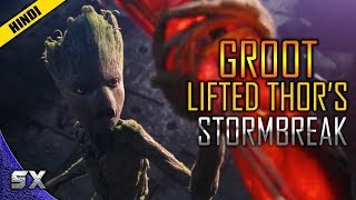 How Groot Lifted Thor's Stormbreaker | Infinity War | Hindi | Super Xpose