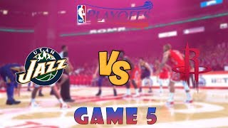 Utah Jazz vs. Houston Rockets - Game 5 - Round 1 - NBA Playoffs! - NBA 2K19