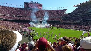 The Best Entrance in College Football:  Texas A&M Aggies at Kyle Field in College Station, TX