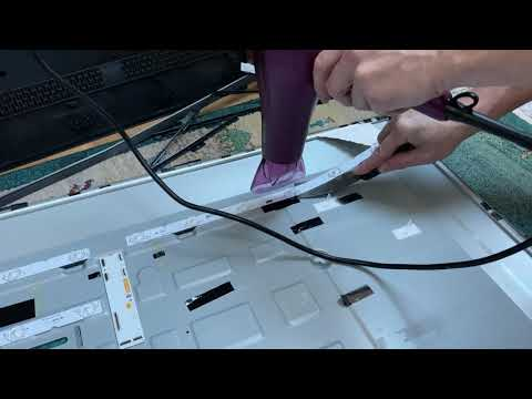 "view Removing LED strips from a Sony 55"" 4K TV"