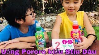 Stin Dâu (^_^) Trò Chơi Rút Thẻ Uống Nước Pororo Hàn Quốc - Hai anh em.