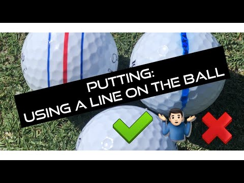 Should you putt with a line on the ball?