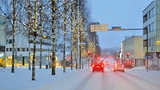 Christmas 2016 Driving in Finland: IISALMI - Northern Savo Region