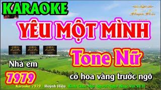 Karaoke 7979 Yêu Một Mình Nhạc Sống Tone Nữ || Hiệu Organ Guitar || Beat Chất Lượng Cao