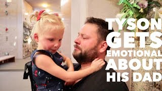 Dad Gets EMOTIONAL When SHOWING HIS DAUGHTERS Where His Dad Is Laying To Rest
