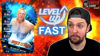 HOW TO RANK UP TIERS FAST - WWE SuperCard Tips & Tricks