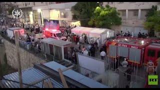 مقتل شخصين على الأقل وإصابة العشرات بانهيار مدرج داخل كنيس يهودي غرب القدس