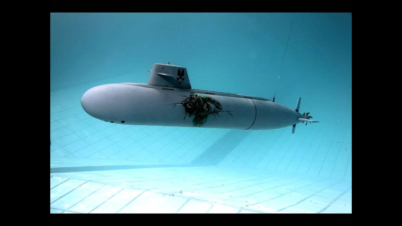 Modell Uboote Im Pool Rc Submarine Nautilus Youtube