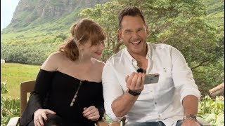 JURASSIC WORLD: FALLEN KINGDOM interview with Chris Pratt and Bryce Dallas Howard (unedited)