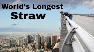 Trying To Drink From The World's Longest Straw