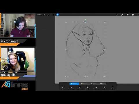 TG20:ONLINE | Tegning og chill med Wictorianart og Galaxyelfx