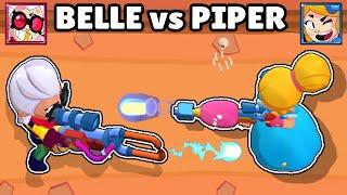 BELLE vs PIPER | 1vs1 | NUEVA BRAWLER | BRAWL STARS