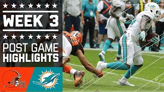 Browns vs. Dolphins   NFL Week 3 Game Highlights
