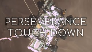 Real Video of NASA's Perseverance Mars Touchdown And Sky Crane