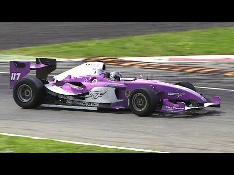 Superleague Formula Cars EPIC Sound at Monza Circuit – 4.2-litre V12 Engine