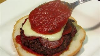 Grilled Pizza Burger - Grilled Cheeseburger - Grilled Hamburger