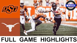 #12 Oklahoma State vs #25 Texas Highlights   College Football Week 7   2021 College Football