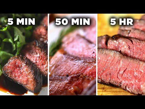 5-Minute Vs. 50-Minute Vs. 5-Hour Steak ? Tasty