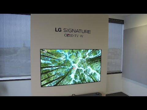 LG 65W7 Signature Wallpaper OLED TV Hands on Review