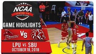 NCAA 94 MB: LPU vs. SBU | Game Highlights | October 18, 2018