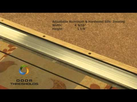 "Adjustable 4-9/16"" Wide Aluminum and Hardwood Inswing Door Threshold - #99085"