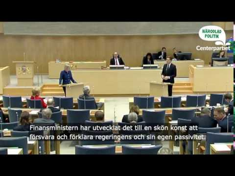 Emil Källström i budgetdebatten