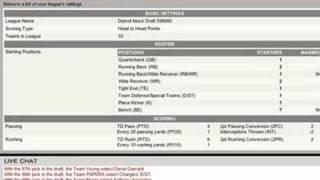 ESPN's Fantasy Football Draft Overview