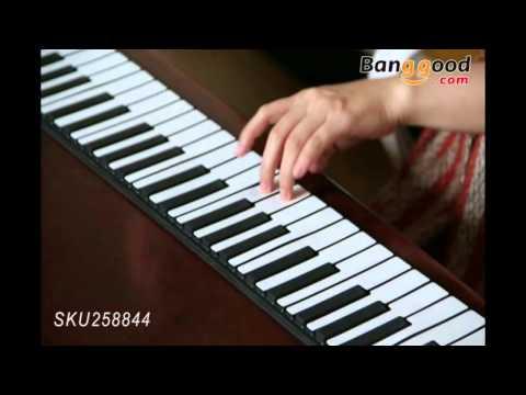 iWord 88 Key Professional Roll Up Piano With MIDI Keyboard  - banggood.com