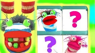 Fizzy Needs Play Doh Teeth to Make Teen Titans Toys Surprise Boxes