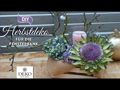 DIY: schnelle Herbstdeko mit Hortensien [How to] Deko Kitchen