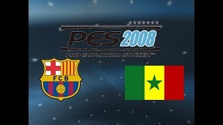 PES 2008 PS2 -  World Tour - Mission 2 - Barcelona vs Senegal - Starting Players Only