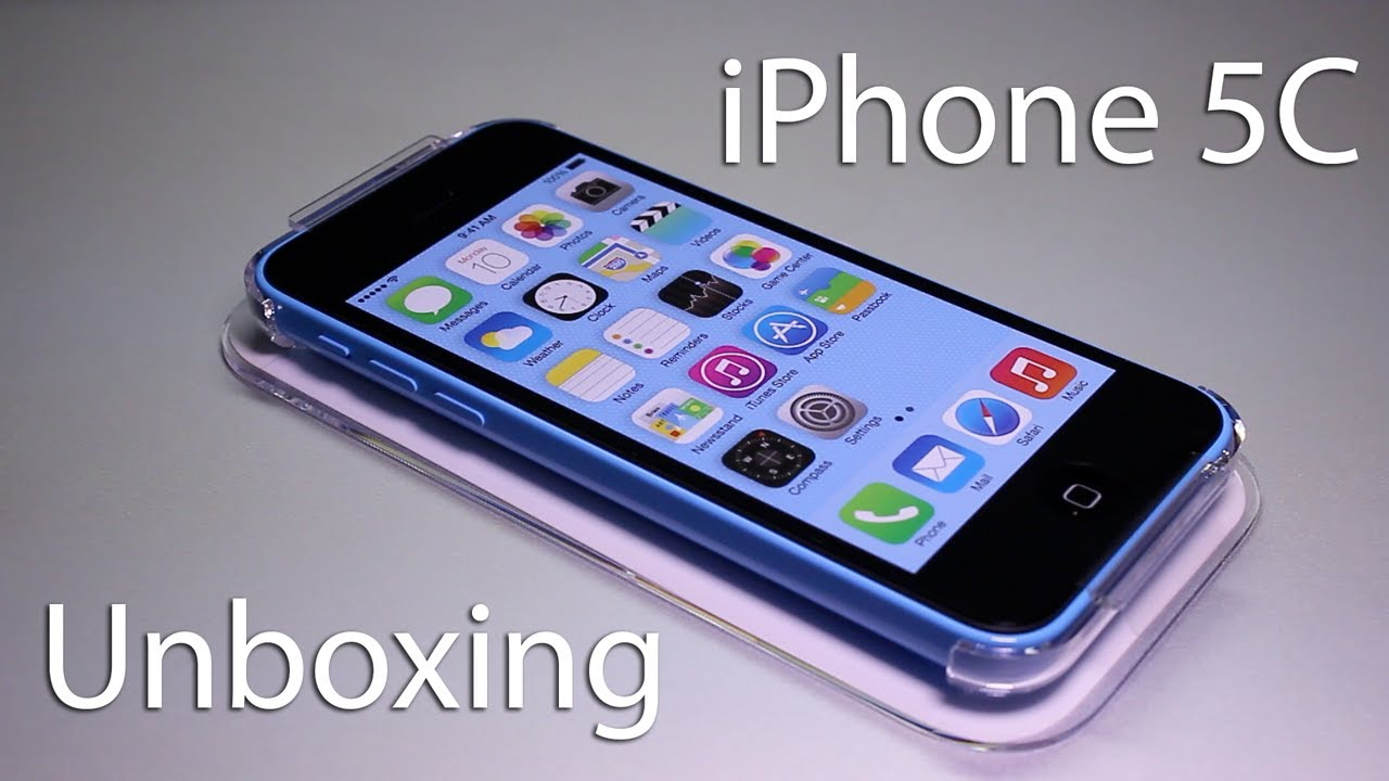 iPhone 5C Unboxing - First Look at Blue iPhone 5C - Apple ...
