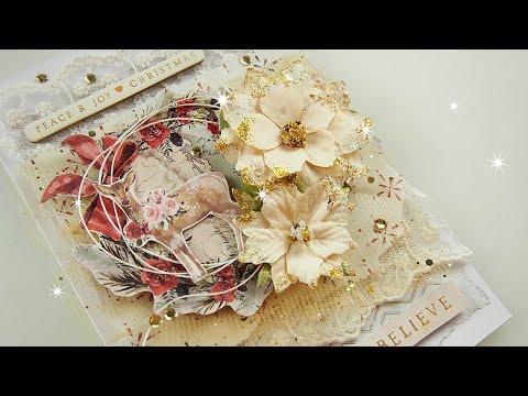 Layered Christmas Card Tutorial ♡ Maremi's Small Art ♡
