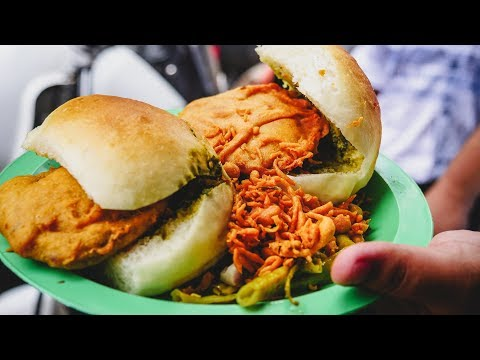 Pune Street Food Tour Trying Vada Pav | Indian Street Food in Pune, India