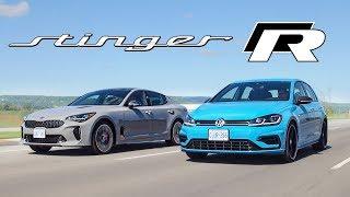 2020 Kia Stinger GT vs VW Golf R - $50k All Wheel Drive, Automatic Hatchbacks