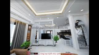 NGÔI NHÀ XINH - mẫu thiết kế phòng khách đẹp sang trọng.