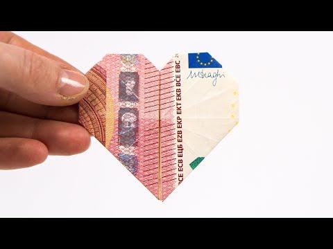 Geldscheine Falten Herz Geldgeschenke Zur Hochzeit Basteln Geld