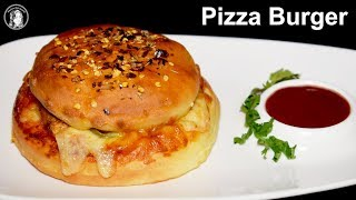 Pizza Burger Recipe Without Oven - Burger Pizza Like Domino's at Home by Kitchen With Amna