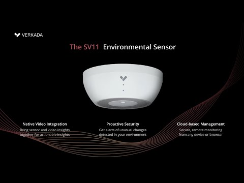 The SV11 is a simple-to-deploy, powerful sensing device that provides enhanced visibility into what is happening in a physical space. The cloud-managed device seamlessly integrates with Verkada's industry-leading enterprise video security solution, allowing organizations to review context and quickly associate sensor events with relevant video footage.