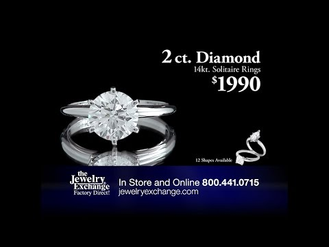 2ct Diamond Solitaire 14k Rings $1990