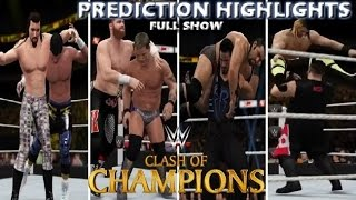 WWE 2K16 CLASH OF CHAMPIONS 2016 FULL SHOW - PREDICTION HIGHLIGHTS