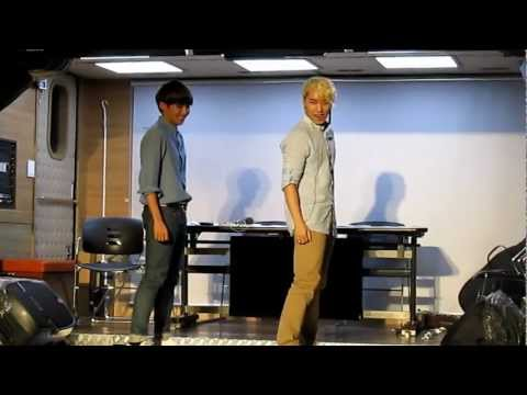 120718 Sukira Open Concert - Ryeowook & Sungmin dancing to SFS