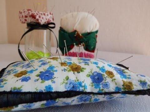 Jak wykorzystać resztki materiałów - poduszka na szpilki